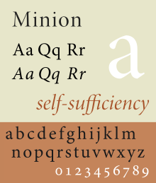 Minion (typeface) - WikiVisually