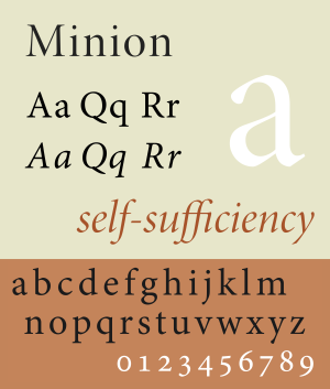 Minion (typeface) - Image: Minion opticals sample