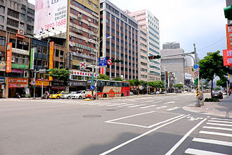 Zhongshan District, Taipei - Image: Minquan West Road East View 20150509a