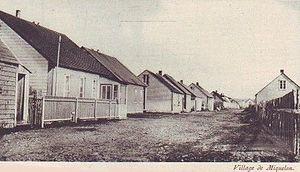 Miquelon-Langlade - The village of Miquelon c. 1930