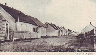 Miquelon-Langlade - The village of Miquelon c. 1930