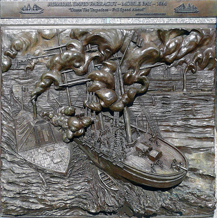 Plaque commemorating the battle at the United States Navy Memorial in Washington, D.C. Mobile Bay Navy Memorial.jpg