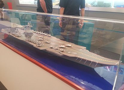 Model aircraft carrier project 23000E at the «Army 2015» 1.JPG
