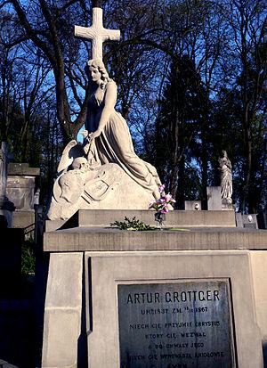 Artur Grottger - Grottger's Grave at Lychakivskiy Cemetery, Lviv