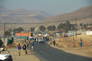 Mokhotlong District - A market in the district