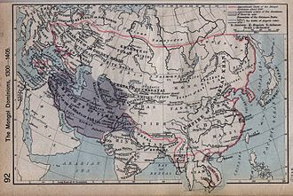 Nomadic empire - Timurid continental map