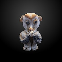 Monkey-shaped bead