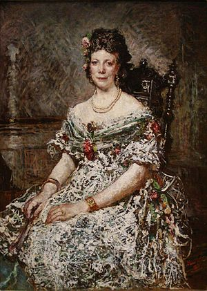 Adolphe Monticelli - Image: Monticelli Portrait de Madame Pascal