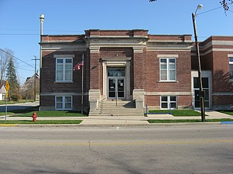 National Register of Historic Places listings in Blackford County, Indiana - Image: Montpelier Carnegie Library