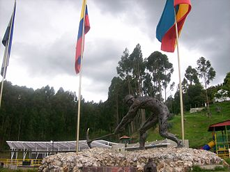 Mineral industry of Colombia - Monument to the miners in Zipaquirá, Cundinamarca