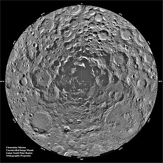 Lunar south pole Southernmost point of the Moons rotational axis