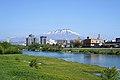 Morioka and Mount Iwate and River Kitakami in May 2019.jpg