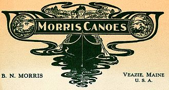 B.N. Morris Canoe Company - Cover image from c.1908 Morris catalog