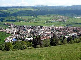 Vue sur Morteau depuis le Mont Vouillot.