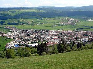 Morteau - Morteau from Mont Vouillot