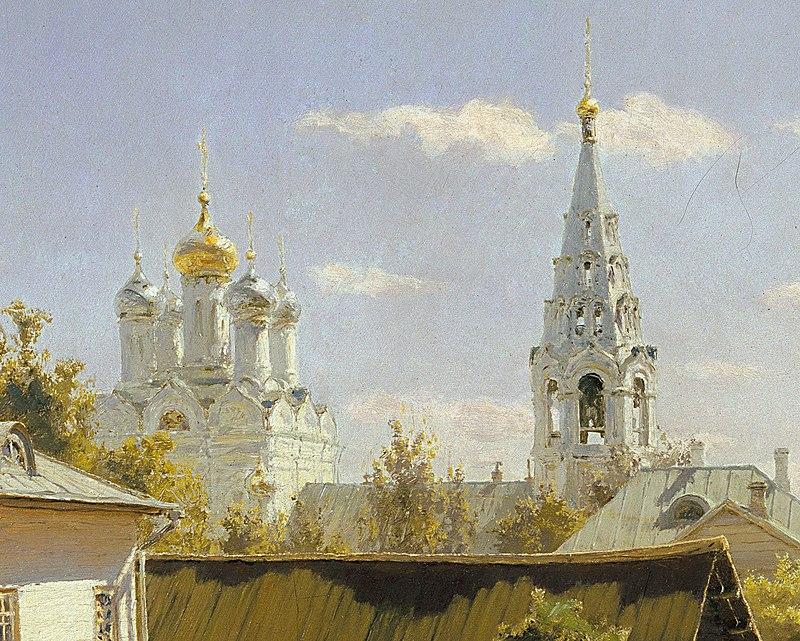 Moscow Courtyard (Polenov, 1878) - Google Art Project detail3.jpg