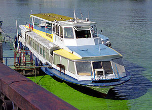Transport in Ukraine - Leisure riverboat in Kiev.