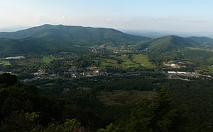 Aerial view of Jefferson, NC