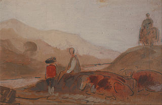 Mountainous Landscape with Figures by a Lake