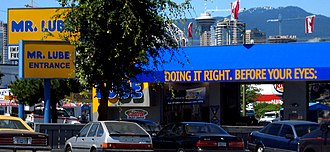 Mr. Lube - Mr. Lube location in Vancouver.