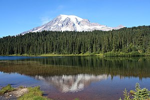 Mt. Rainer from Reflection Lake