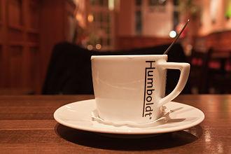 Restaurant ware - Hotelware coffee mug for the Humboldt restaurant in Rostock, Germany.