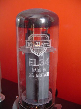 EL34 - An EL34 vacuum tube  manufactured by Mullard