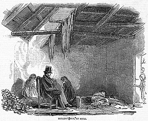 Robert Traill (clergyman) - Mahoney's sketch of Traill visiting a dying man's home in 1847
