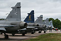 Multi-national JAS-39 Gripen line-up at Malmen 2012 (8352325651).jpg
