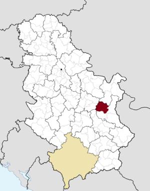 Boljevac - Image: Municipalities of Serbia Boljevac