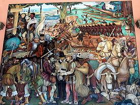 Murales Rivera - Ausbeutung durch die Spanier 1.jpg