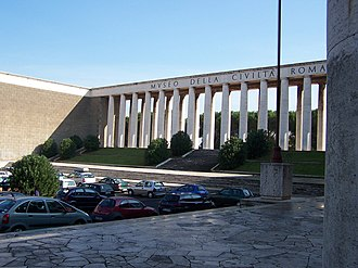 Museum of Roman Civilization - The museum from the outside