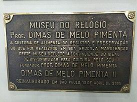 fe0ed63bea0 Museu do Relógio Professor Dimas de Melo Pimenta – Wikipédia