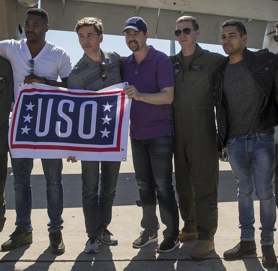 NCIS cast members at Miramar (cropped)