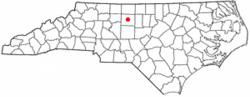 Location in North Carolina