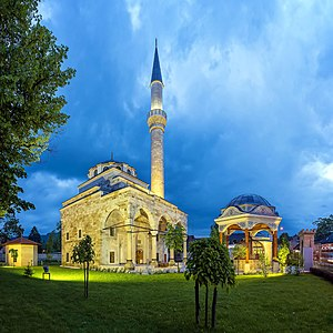 Banja Luka - The Ferhat Pasha Mosque, erected in 1579, was demolished in 1993. Following meticulous reconstruction it was opened again in 2016.