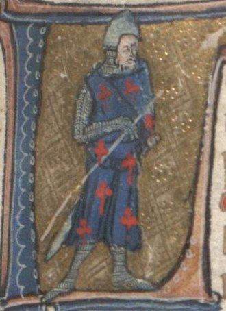 Beves of Hamtoun (poem) - Illustration from the Auchinleck manuscript.