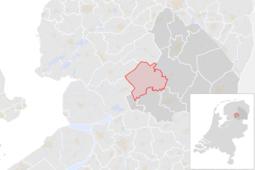 Locatie van de gemeente Westerveld (gemeentegrenzen CBS 2016)