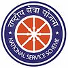 "National Service scheme logo: a red-and-white wheel with ""National Service Scheme"" in white-on-blue Hindi and English around it"
