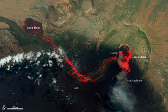 Nabro Volcano - Lava flows at Nabro Volcano, June 29, 2011