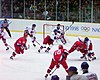 The 1998 gold medal game between Russia and the Czech Republic