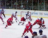 Hokejové finále: Rusko - Česká republika