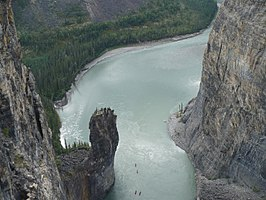 De tweede canyon van de Nahanni River - The Gate