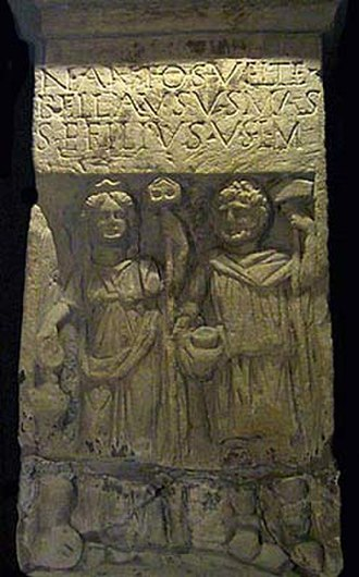 Nantosuelta - Relief of Nantosuelta and Sucellus from Sarrebourg
