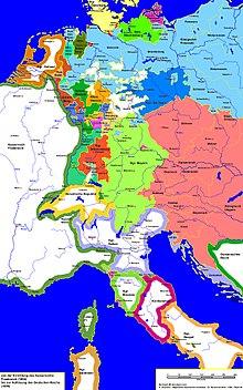 Das neue Königreich Bayern 1806 (Quelle: Wikimedia)