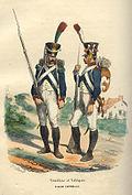 Napoleon Guard Tirailleur and Voltigeur by Bellange