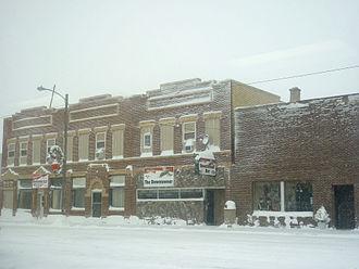Logan County, North Dakota - Image: Napoleon ND downtown snow