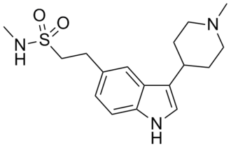Triptan - Image: Naratriptan structure