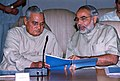 Narendra Modi and Atal Bihari Vajpayee on March 27, 2002.jpg