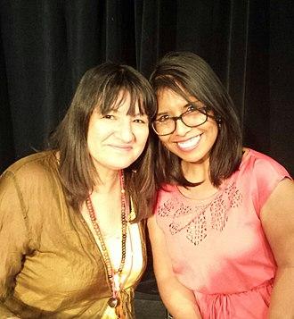 Natalia Anciso - Natalia Anciso (right) with author Sandra Cisneros (left)